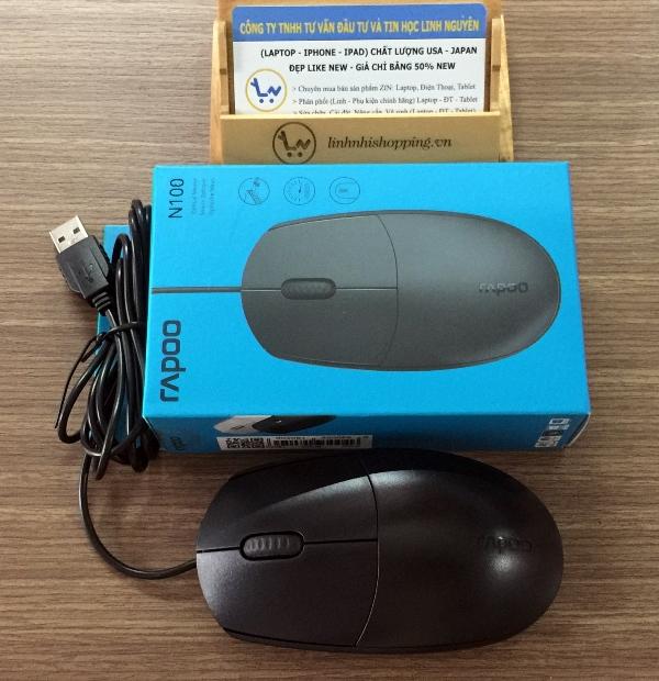 Chuột Chính Hãng Rapoo n100 Dây USB  (12 tháng bảo hành)