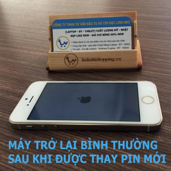 Thay pin iphone 5s (Pin Zin - bảo hành 06 tháng)