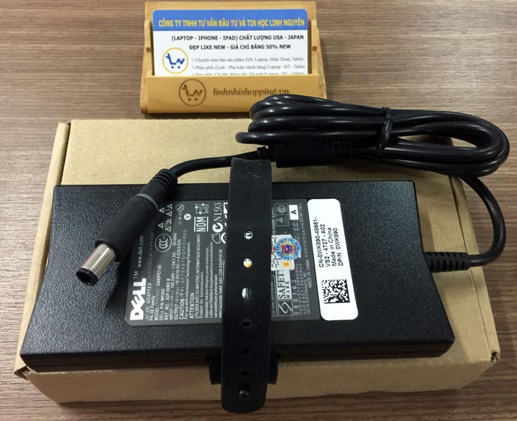 Sạc Dell Slim Xịn đầu tròn kim to 19.5v-4.62a (ZIN OEM)