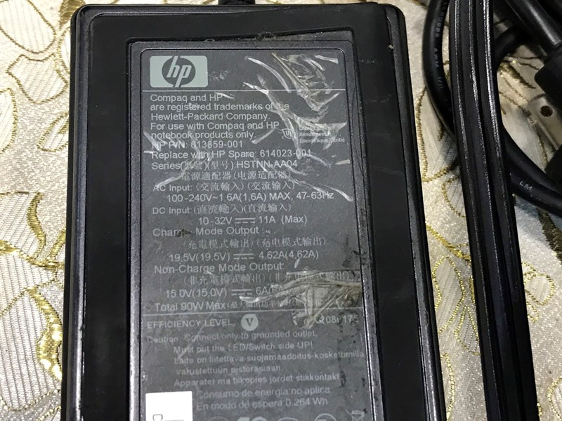 Sạc laptop HP Xịn 90W Zin Bóc Máy 19.5V-4.62A