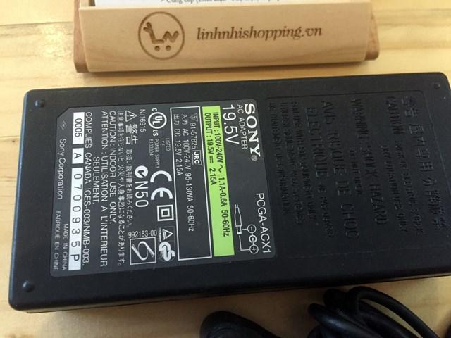 Sạc Sony chính hãng 19.5v-2.15a (ĐÃ SỬ DỤNG)