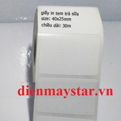 Giấy in tem trà sữa 40x25mm