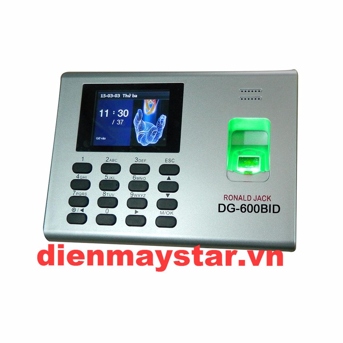 Máy chấm công vân tay và thẻ cảm ứng RONALD JACK DG-600BID