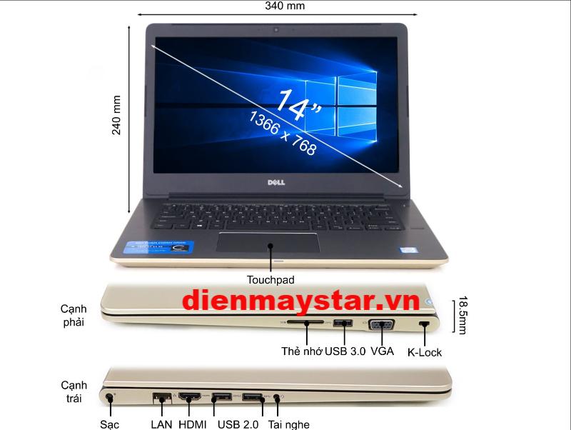 Laptop Dell Vostro V5468 i3 7100U