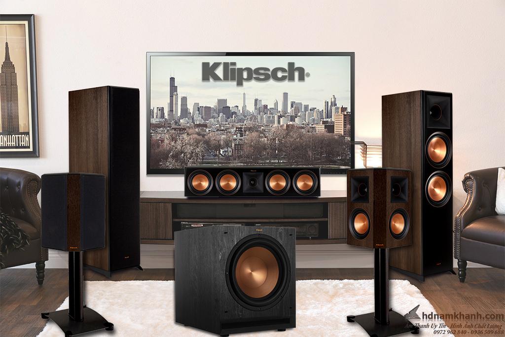 Bộ loa 5.1 Klipsch RP-8000F, Bộ Loa 5.1 Xem Phim, Nghe nhạc Hay cho phòng trên 30m