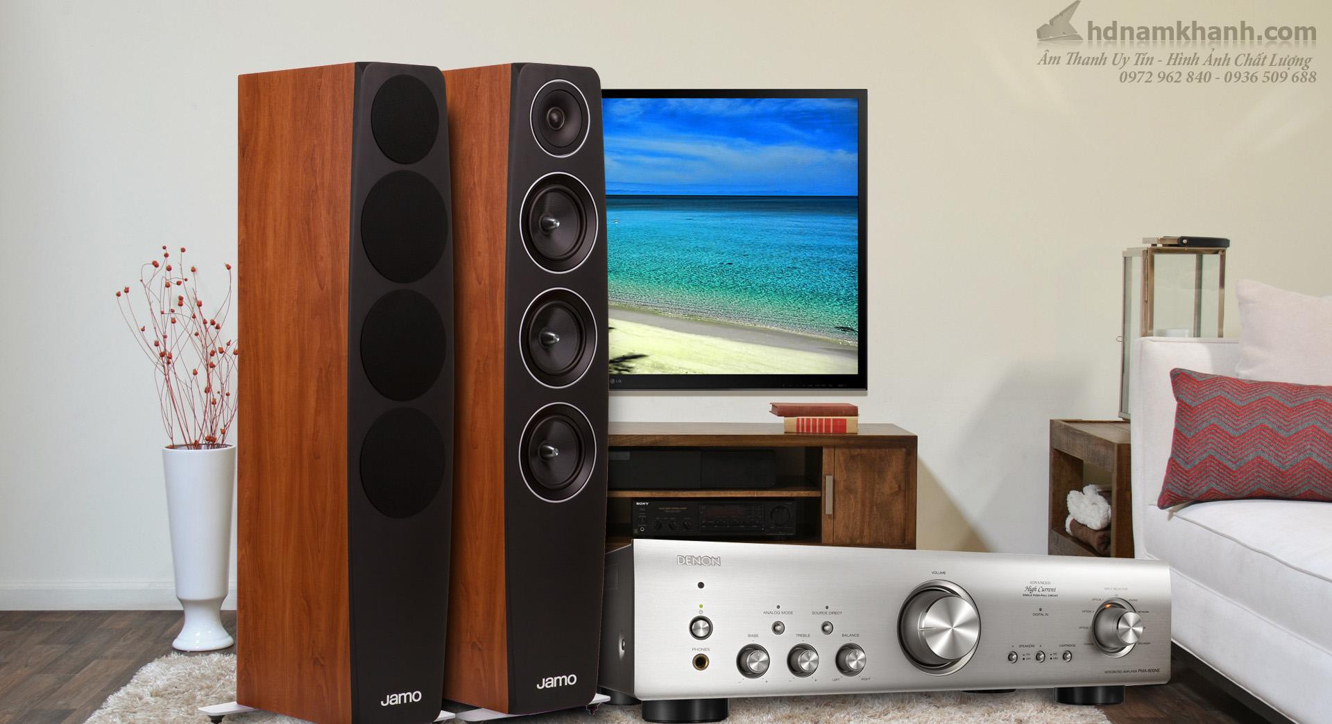 Bộ Nghe nhạc Hi-fi giá tốt, chất lượng Amply Denon PMA 800NE, Loa Jamo C97