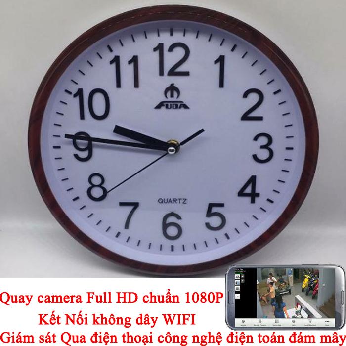 Đồng hồ Camera Wifi Treo Tường