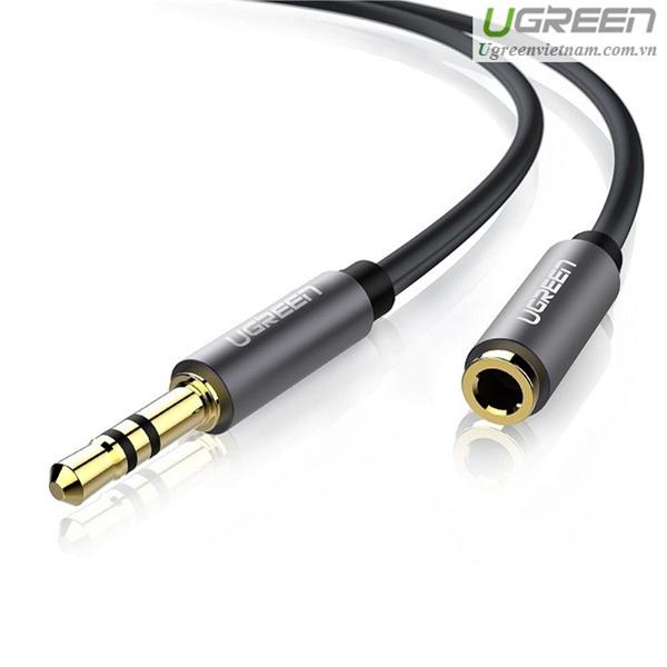 Cáp Audio 3.5mm nối dài 2m chính hãng Ugreen UG-10594 cao cấp