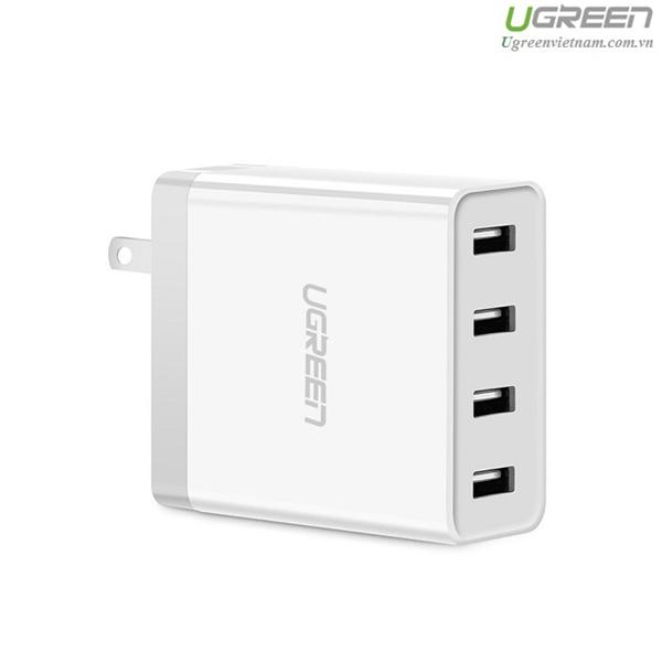 Củ sạc di động 4 cổng USB (34W 6.8A) chính hãng Ugreen UG-30991 cho điện thoại Iphone 6s,7 Ipad, Gal