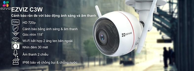 Camera quay quét wifi EZVIZ CV310 1MPx- Wifi ngoài trời - tích hợp còi - đèn chớp