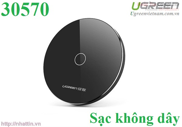 Sạc không dây hỗ trợ Quick change 2.0 tốc độ cao chính hãng Ugreen UG-30570 cao cấp