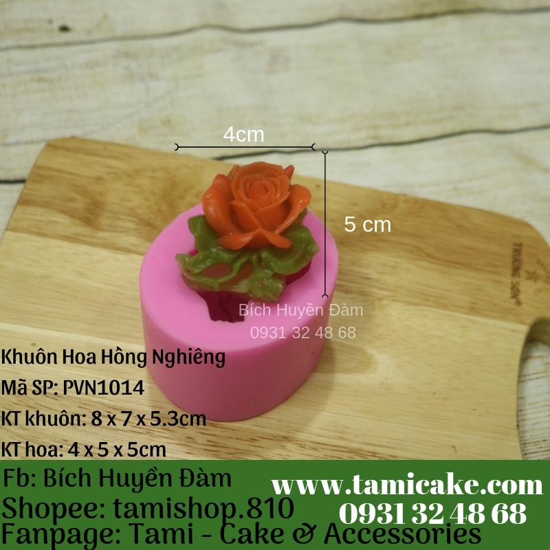 Khuôn silicon- Khuôn hoa hồng nghiêng 1014