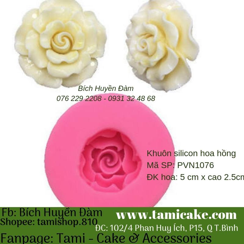Khuôn silicon- Hoa Hồng 1076