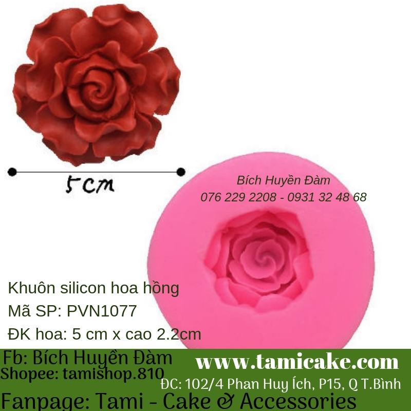 Khuôn silicon- Hoa Hồng 1077