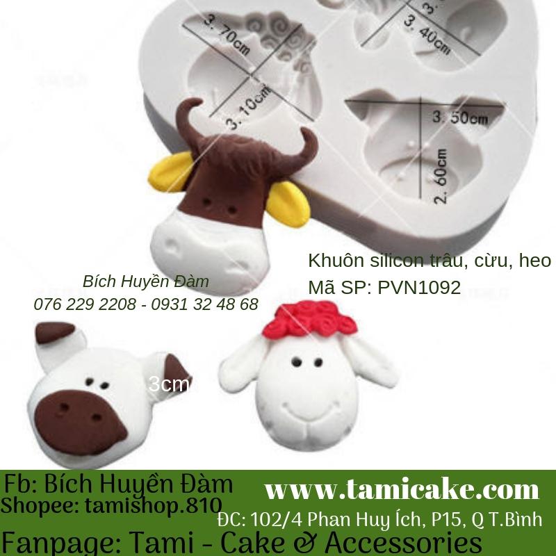 Khuôn silicon- Khuôn heo, cừu, trâu 1092