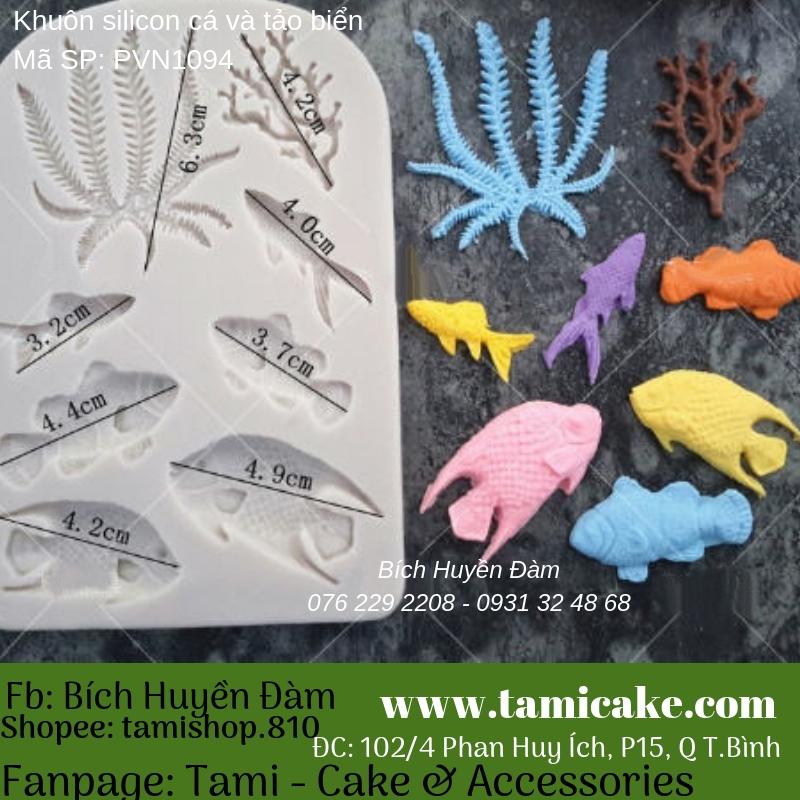 Khuôn silicon Cá và tảo biển 1094