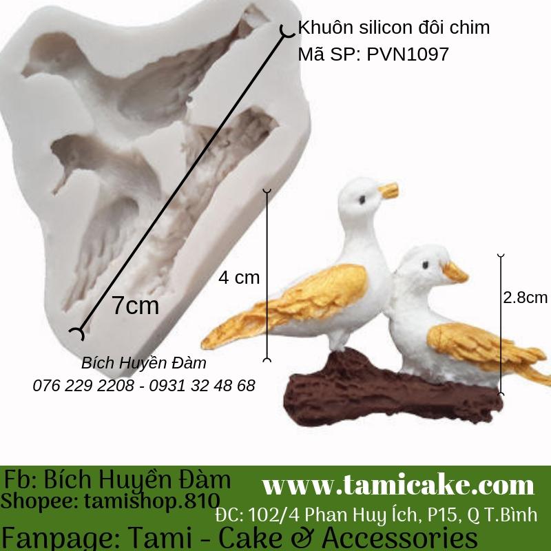 Khuôn silicon đôi chim 1097