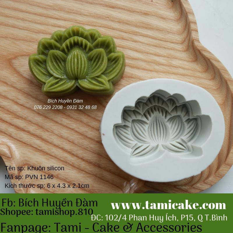 Khuôn silicon PVN1145 (khuôn làm bánh trung thu 50g)