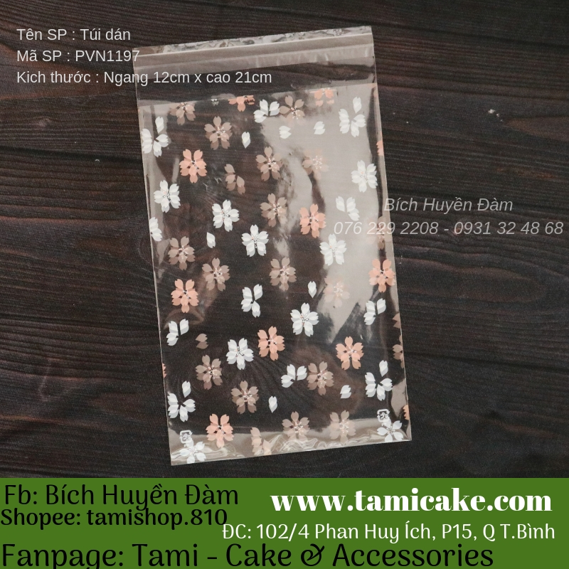 Set 100 túi dán Handmade PVN1197