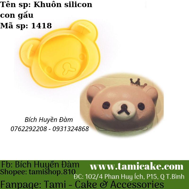 Khuôn silicon hình mặt gấu 1418