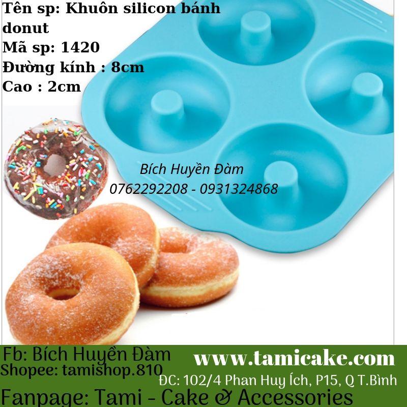 Khuôn silicon bánh donut 1420