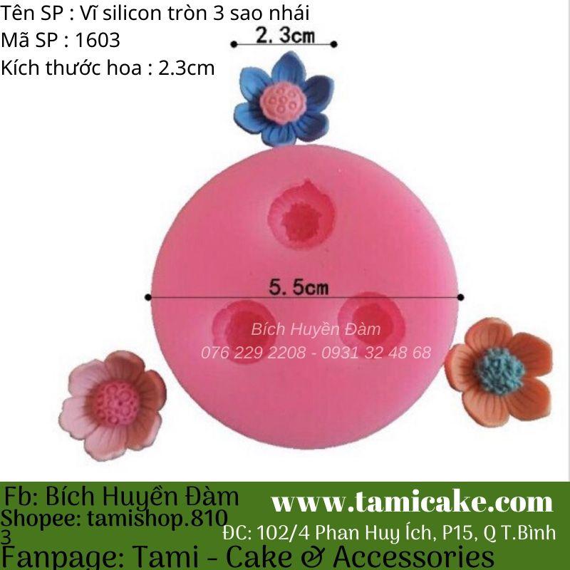 Khuôn silicon vĩ tròn 3 sao nhái 1603