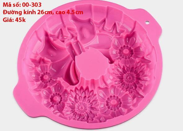 Khuôn Silicon 4D Rau Câu Hoa Nổi - Khuôn Nơ Hoa Nổi