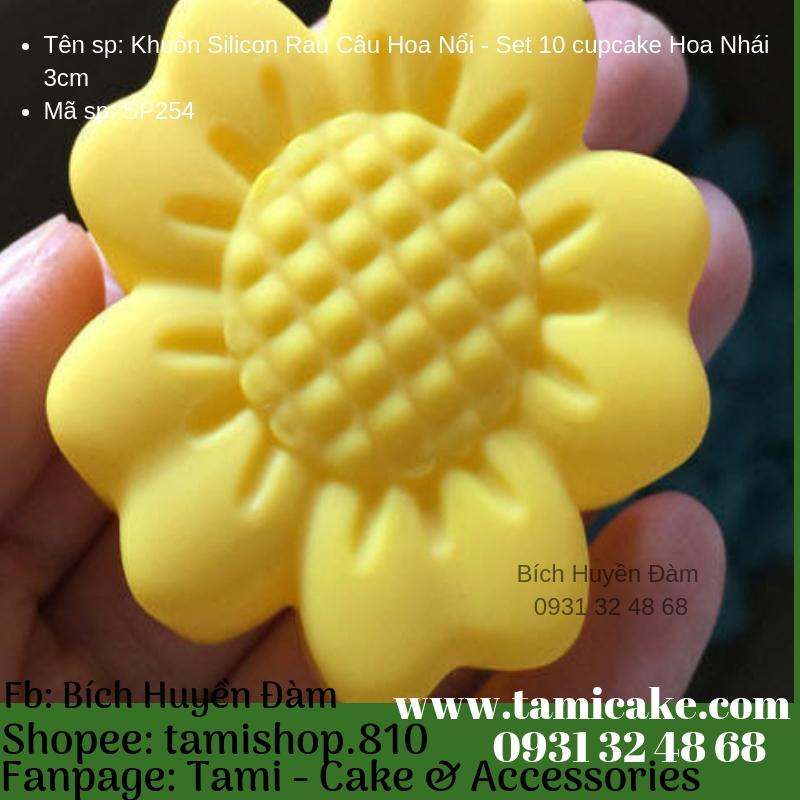 Khuôn Silicon Rau Câu Hoa Nổi - Set 10 cupcake Hoa Nhái 3cm