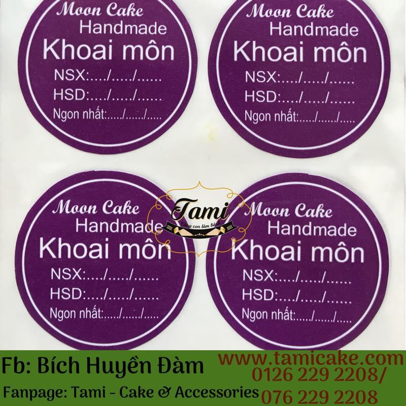 Tem nhân KHOAI MÔN có NSX và HSD- 1 xấp 50 tem