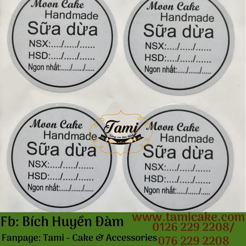 Tem nhân Sữa Dừa có NSX và HSD- 1 xấp 50 tem