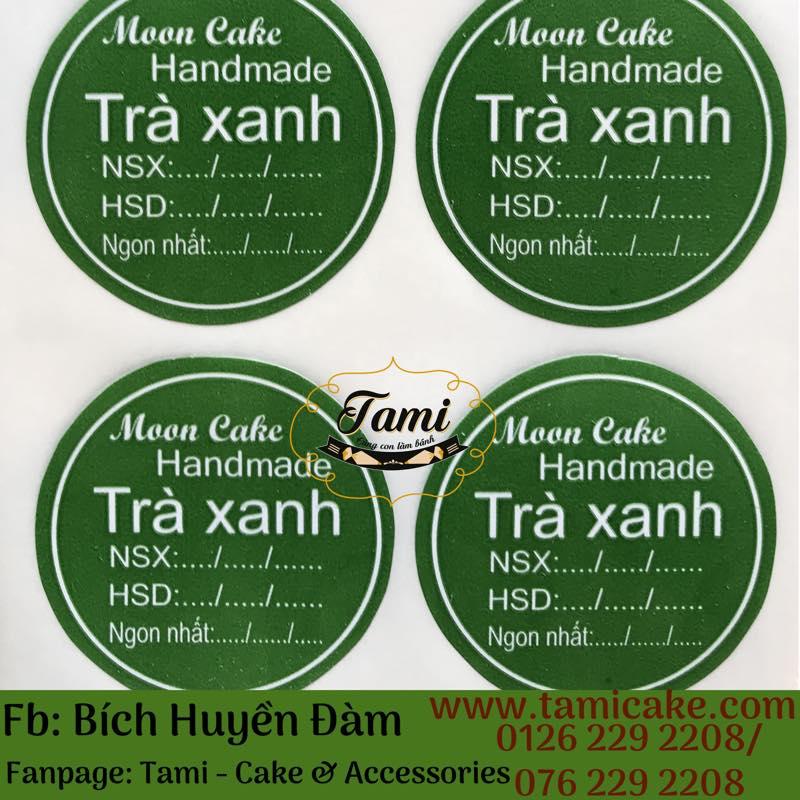 Tem nhân Trà Xanh có NSX và HSD - 1 xấp 50 tem