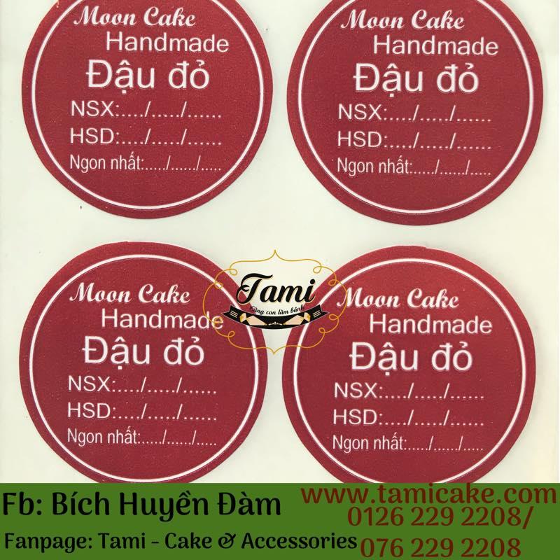Tem nhân Đậu đỏ có NSX và HSD- 1 Xấp 50 tem