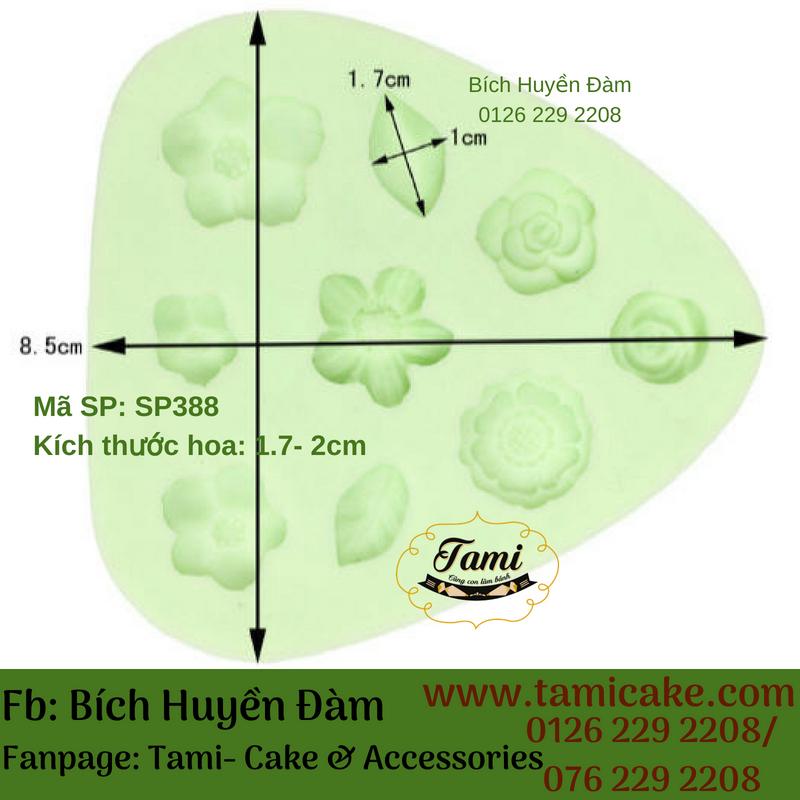 Khuôn Silicon 4D Rau Câu Hoa Nổi - Khuôn Vĩ Hoa Lá SP388