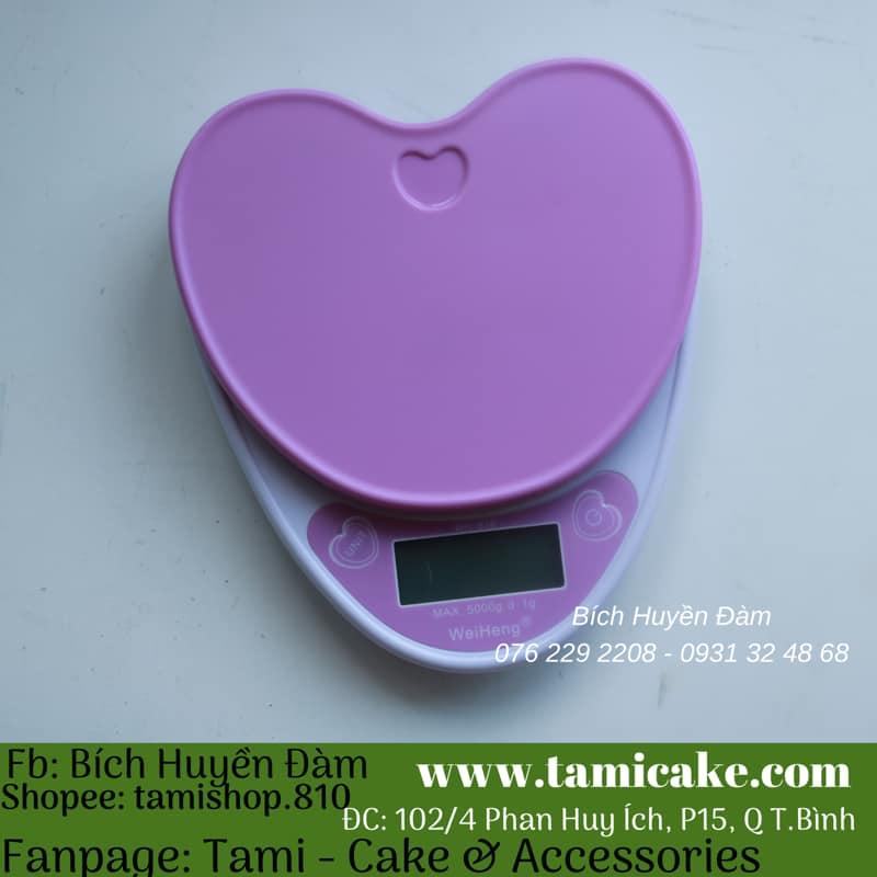 Cân điện tử- Cân trái tim màu tím 5KG