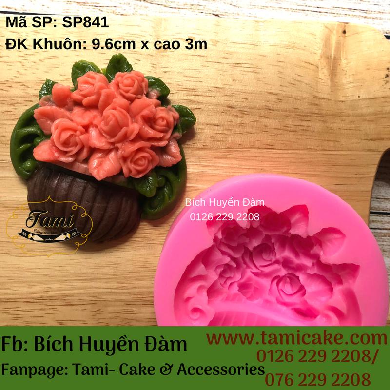 Khuon silicon- Bình hoa SP841