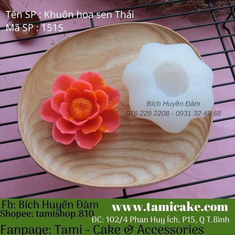 Khuôn silicon hoa Sen Thái 1515