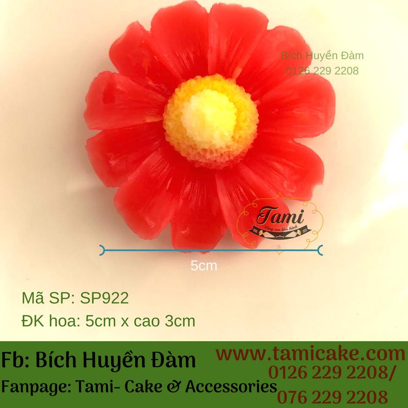 KHUÔN SILICON RAU CÂU HOA NỔI 4D- Hoa cúc SP922