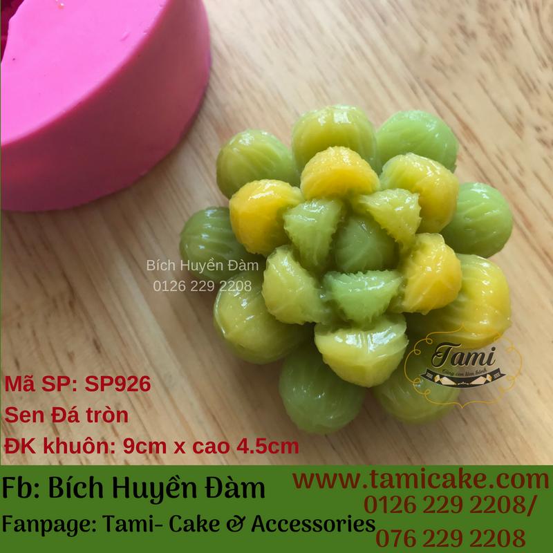 Khuôn silicon rau câu hoa nổi 4D- Sen đá tròn SP926