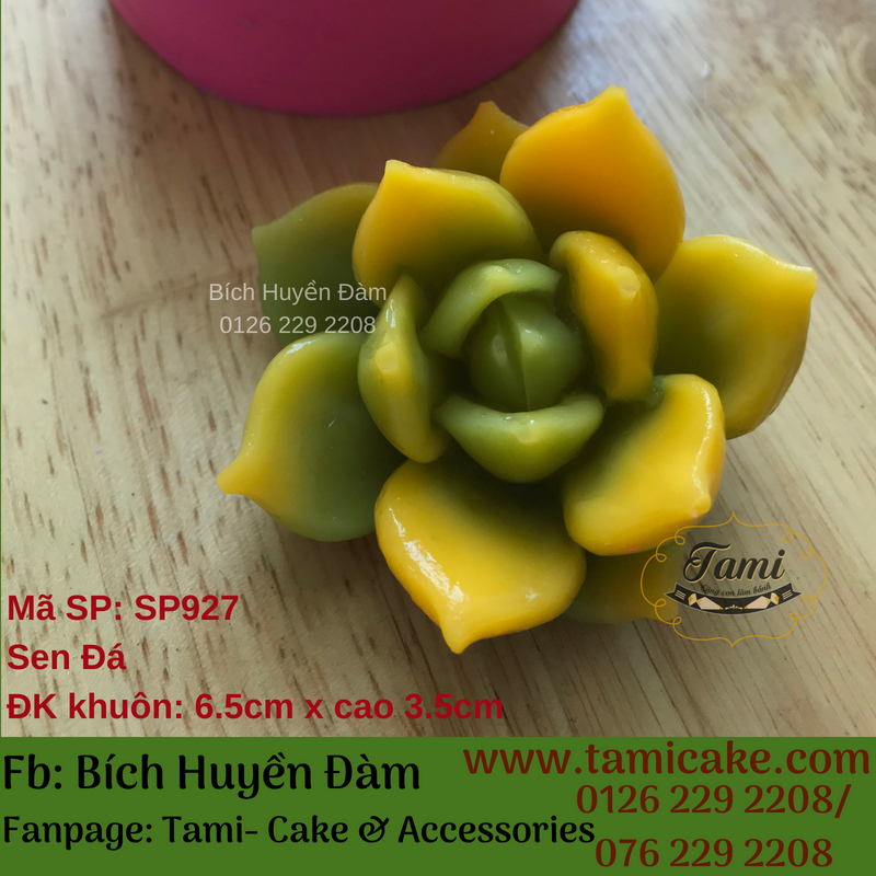 Khuôn silicon rau câu hoa nổi 4D- Sen Đá SP927