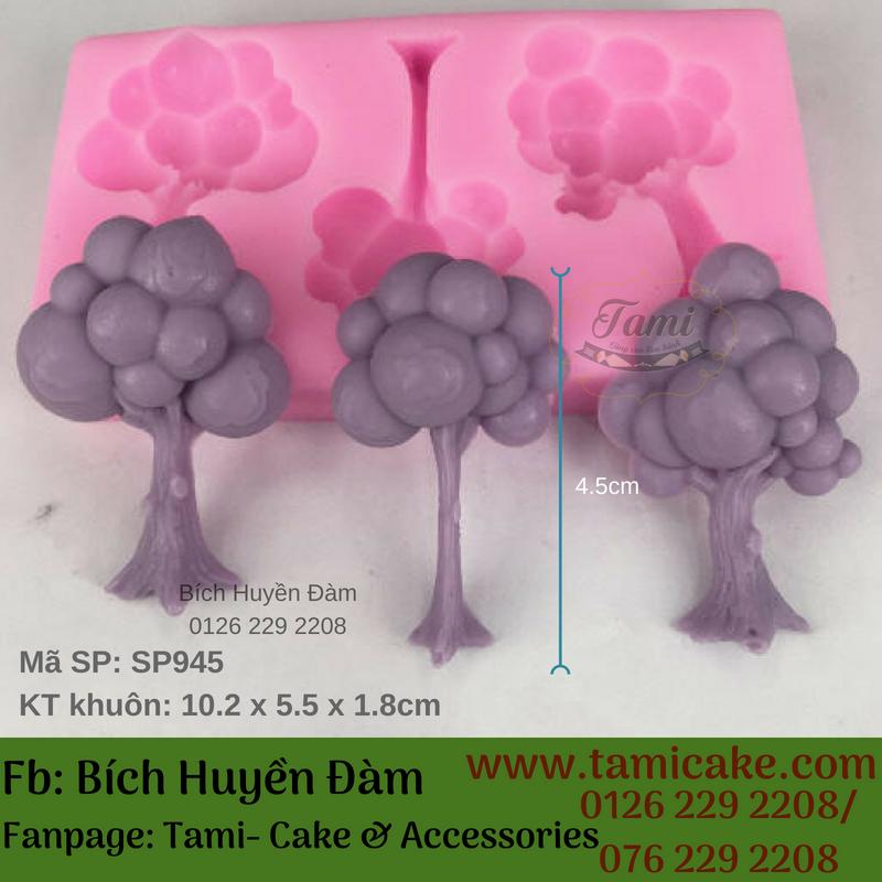 Khuôn silicon- khuôn 3 cây