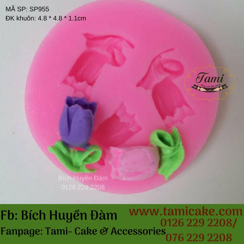 Khuôn silicon- Hoa tulip nhỏ