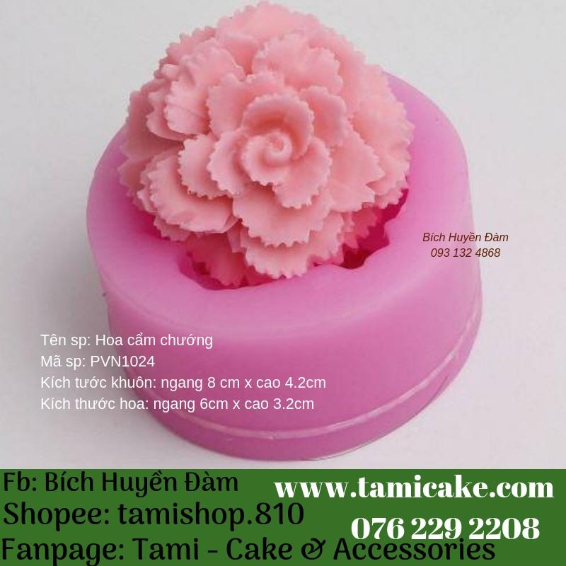 Khuôn silicon - Khuôn hoa cẩm chướng PVN1024
