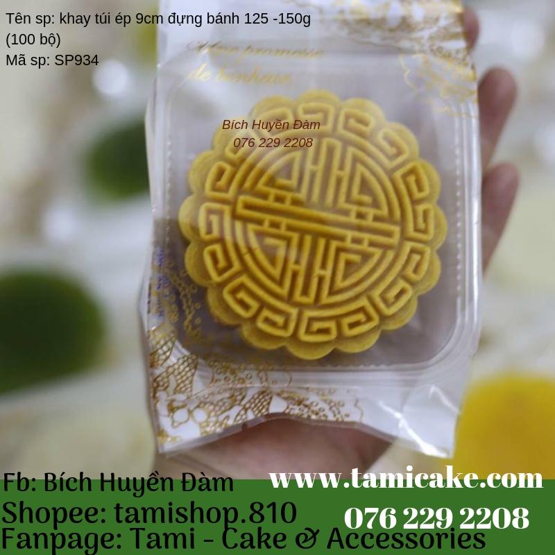 Khay túi ép size 10cm đựng bánh 200-250g (100bộ)