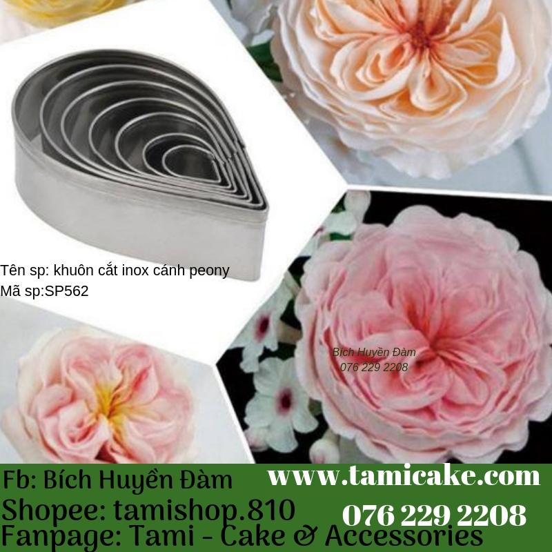 Khuôn inox cắt cánh hoa hồng