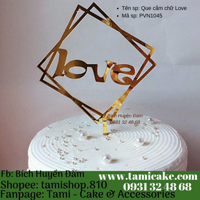 Que cắm chữ Love- PVN1045