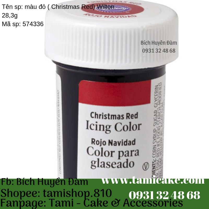 Màu Đỏ (Chirstmas Red) Wilton 28,3g
