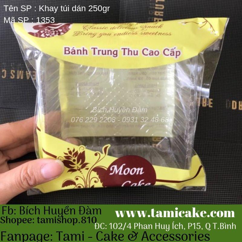 100 Khay Túi (Dán) Đựng Bánh Trung Thu 200g