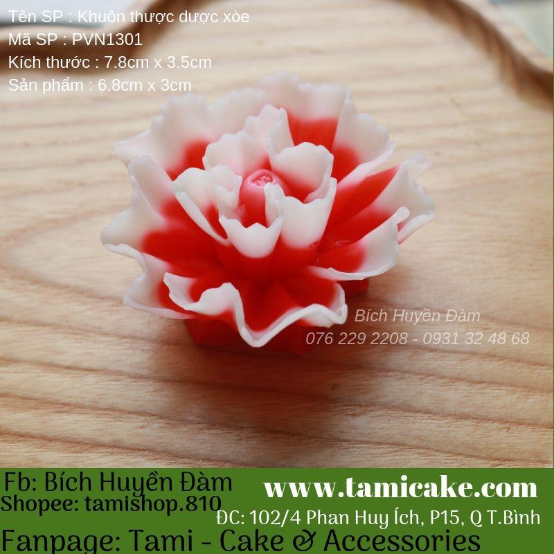 Khuôn silicon hoa thược dược lớn PVN1301