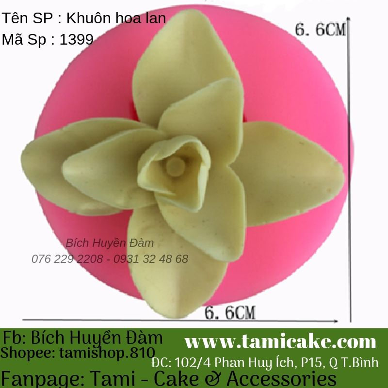 Khuôn silicon hoa lan 1399