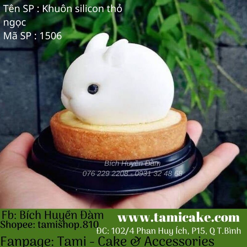 Khuôn silicon thỏ ngọc 1506